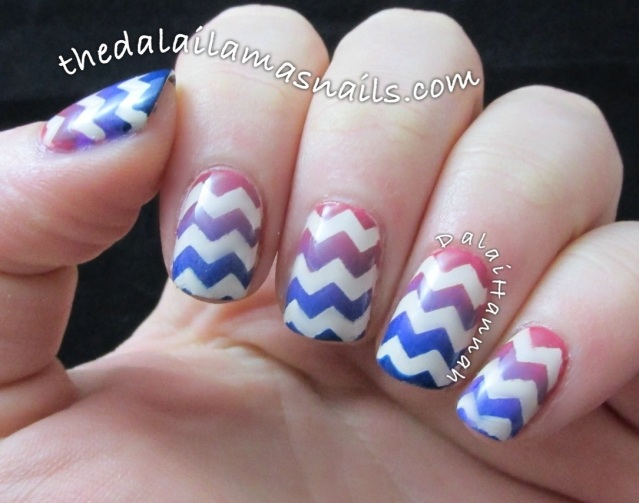 The Dalai Lama's Nails: inspiration week - gradient chevrons