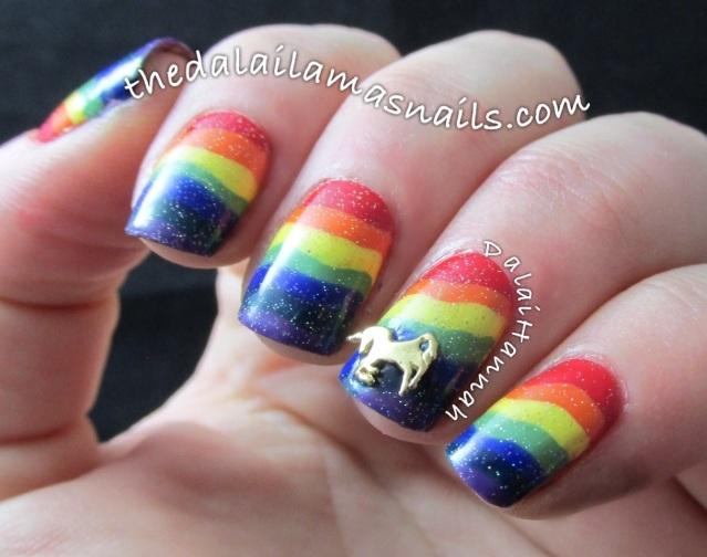 The Dalai Lama's Nails: Unicorn Fart Rainbows