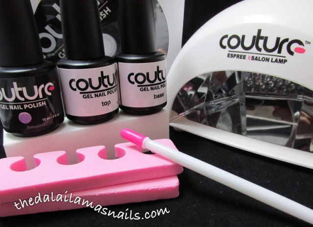 The Dalai Lama's Nails: Couture Gel Nail Polish kit review